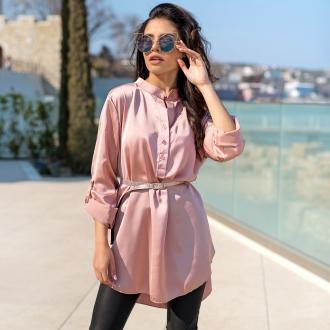 Риза Pink Satin с коланче