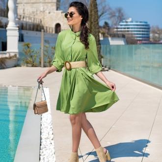 Рокля/риза в зелено