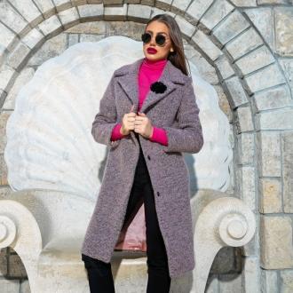 Палто HEAT IN PINK от 100% италианска вълна