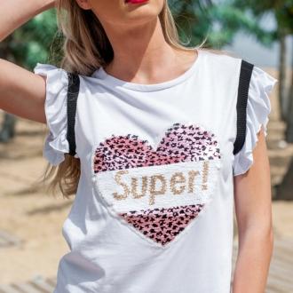 Тениска Super Heart