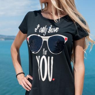 Тениска Only Love For U - ИЗЧЕРПАНА