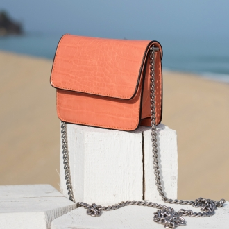Малка чанта Croco Orange