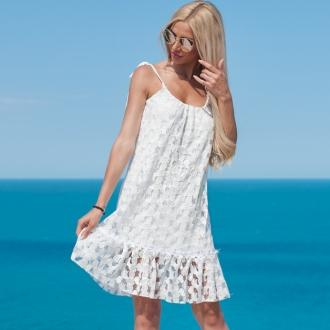 Ефирна бяла рокля PRIVE - ИЗЧЕРПАНА