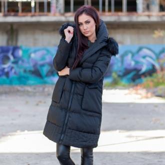 Зимно яке с големи джобове и обемна яка - ИЗЧЕРПАНО