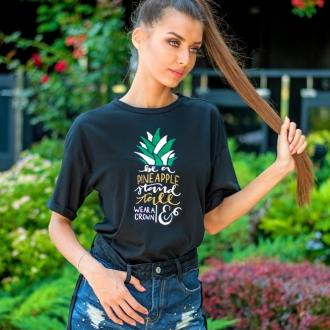 Тениска PINEAPPLE черна