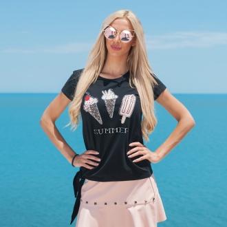 Тениска Black Ice Cream - ИЗЧЕРПАНА