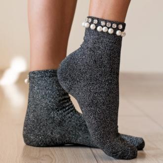 Чорапи с ламе и перла