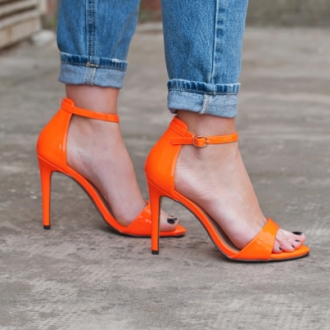 Сандали Neon Orange Jeeini
