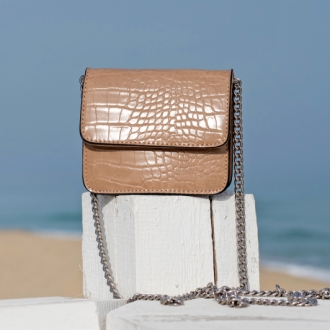 Малка чанта Croco Khaki