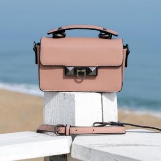 Чанта Rose ash с кожена дръжка