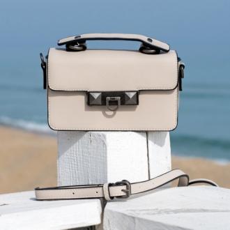 Чанта Nude с кожена дръжка