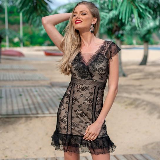 Рокля Black Lace