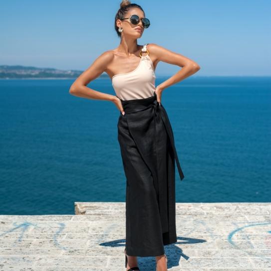 Панталон Puro Lino Italiano от висококачествен естествен лен