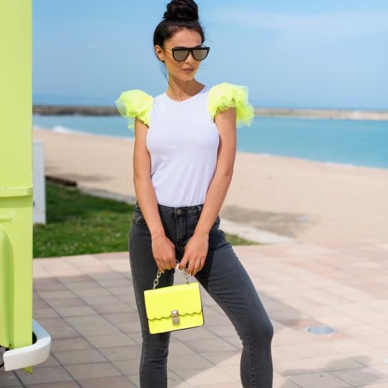 Чанта Lime със синджир