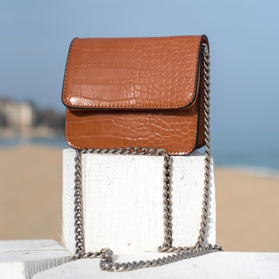 Малка чанта Croco Brown