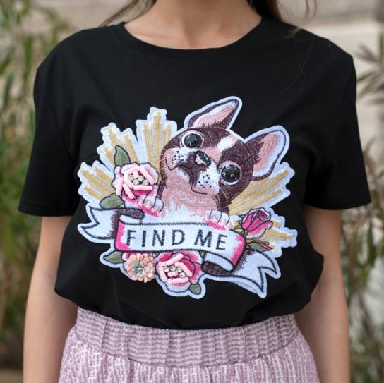 """Тениска Черна """"Dog..find me"""""""