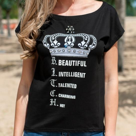 Тениска Queen с кристали