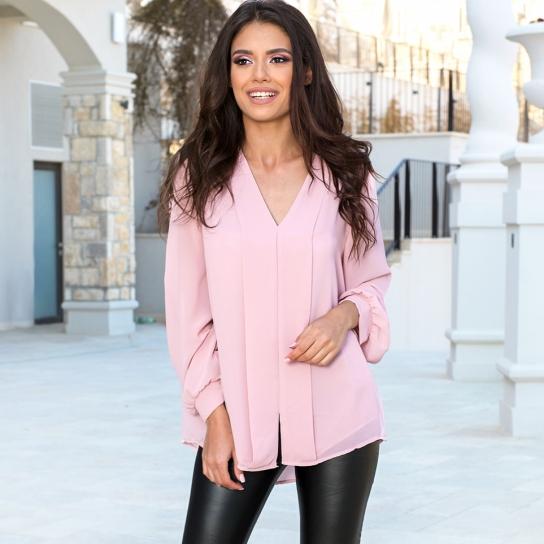 Риза шифон розова
