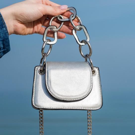 Мини чанта Silver