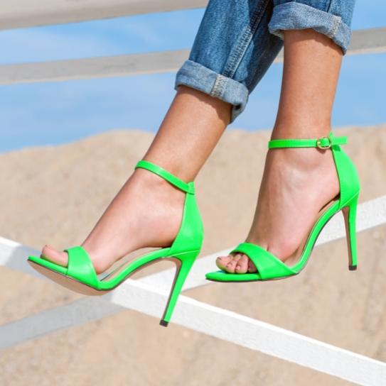 Сандали Neon Green Jeeini