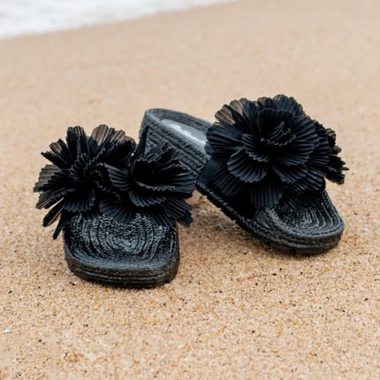 Чехли Black Flowers