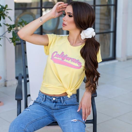 Тениска жълта California