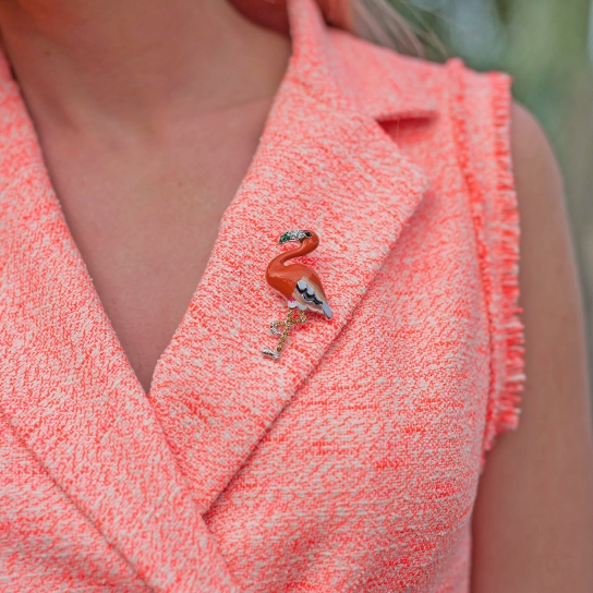 Брошка Фламинго