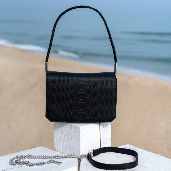 Чанта Snake черна