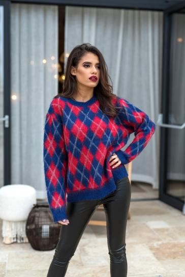Пуловер Color mood от плътна вълна и алпака