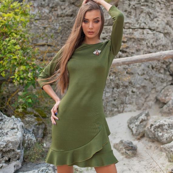 Рокля Stay Wild в зелено