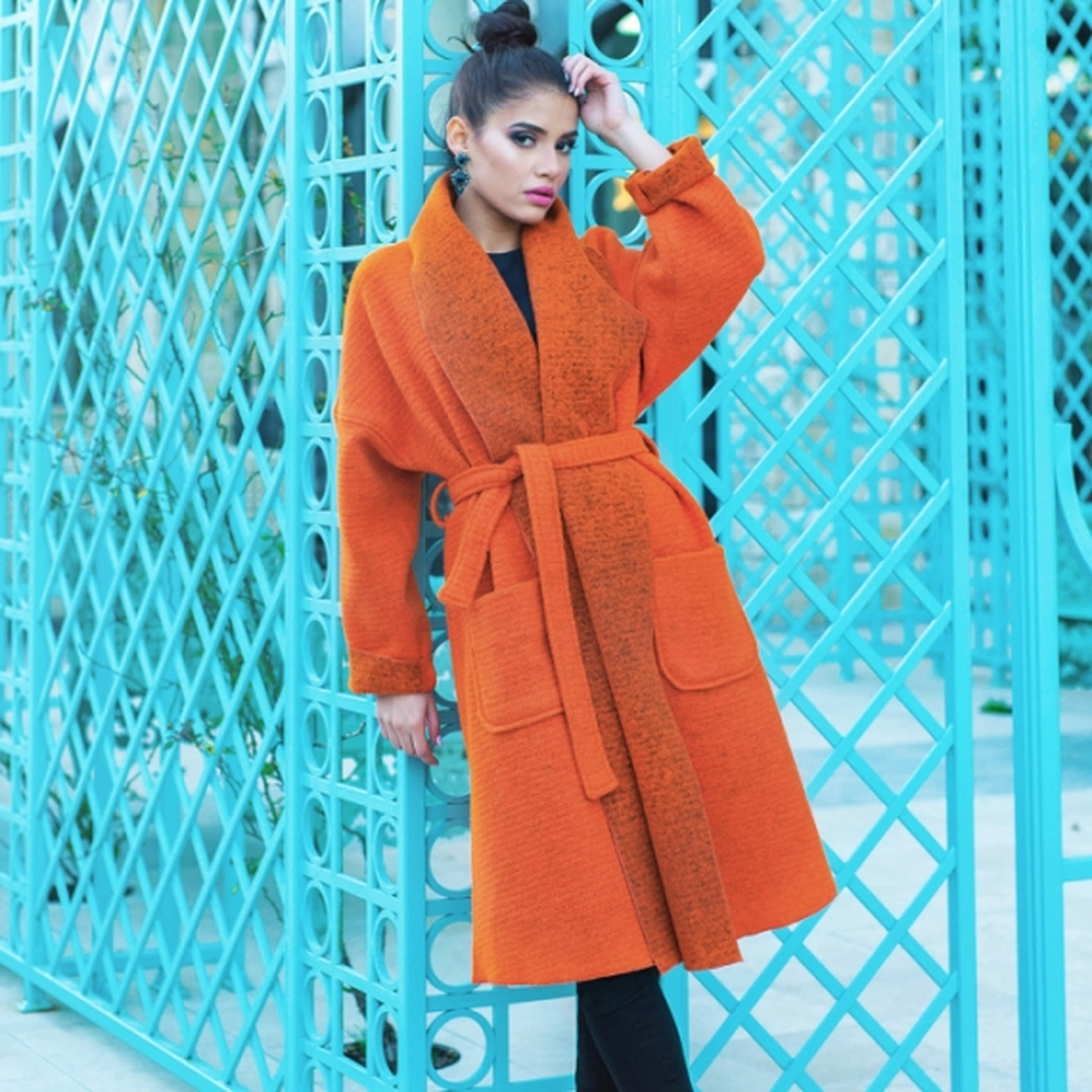 Палто Orange Wool от италианска вълна