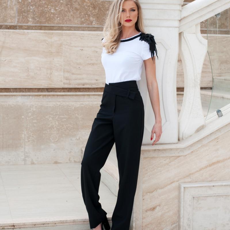 Стилен панталон с висока талия