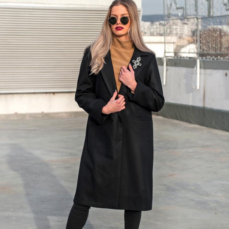 Палто от италиански кашмир с подплата от естествена коприна