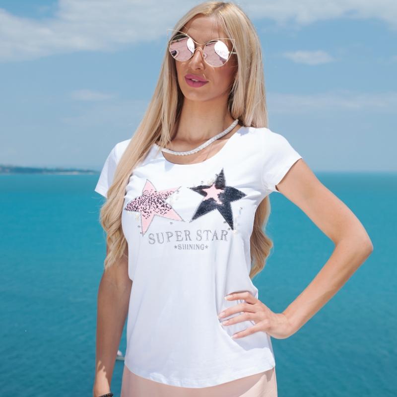 Tениска Stars & Pearls - ИЗЧЕРПАНА