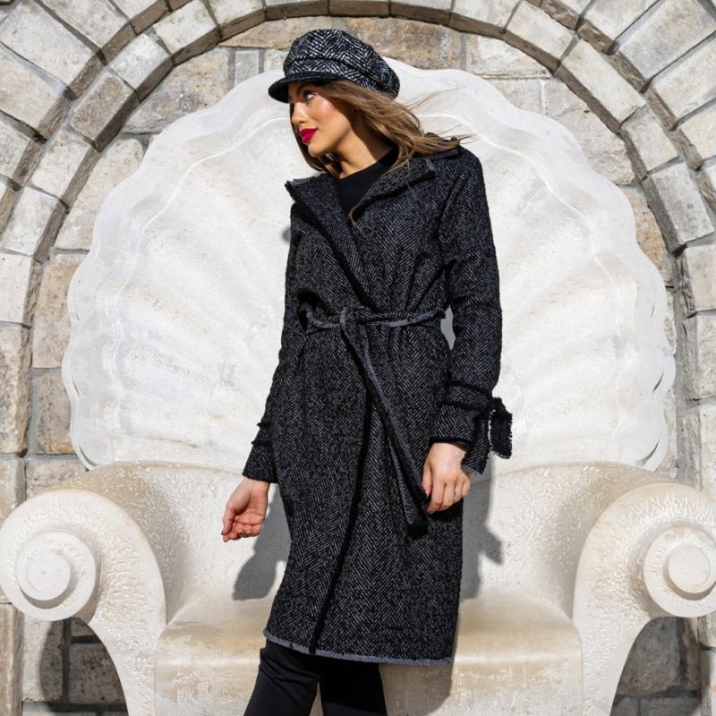 Палто JET BLACK от 100% италианска вълна