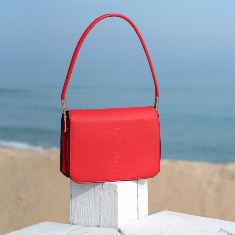 Чанта Snake червена