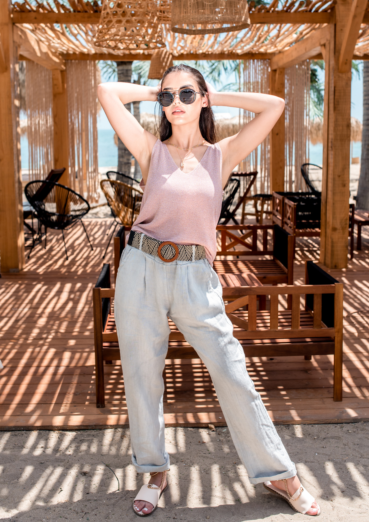 Панталон Light gray linen