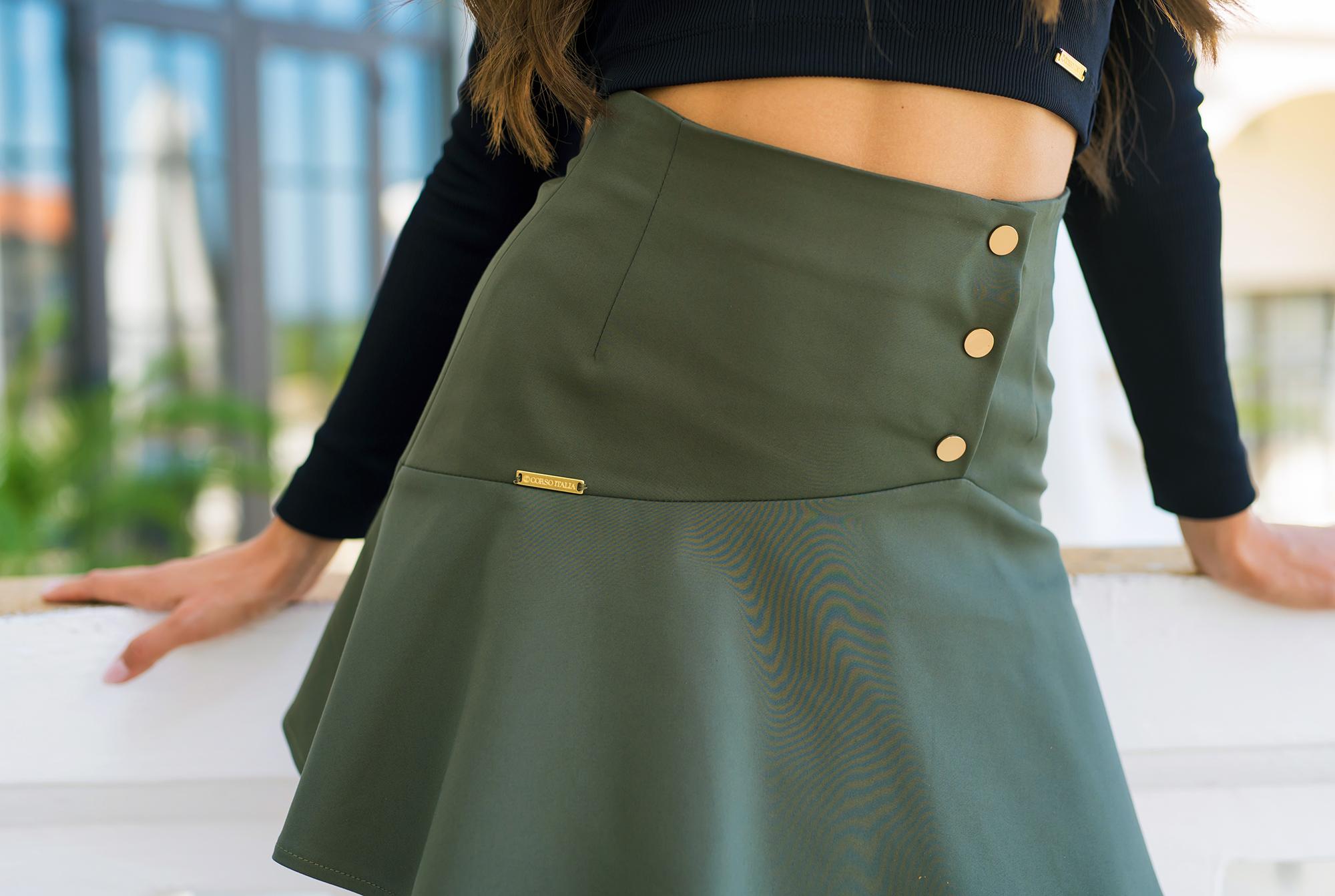 Пола Military Green Skirt