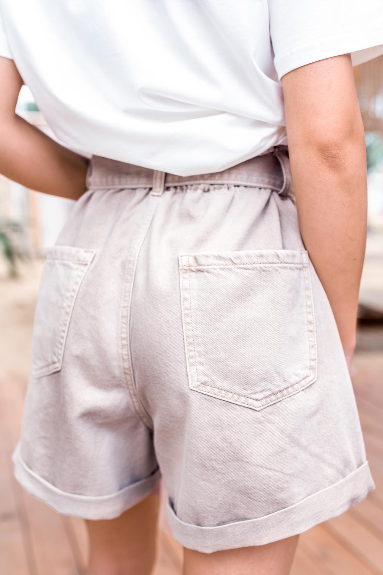 Къси панталонки beige