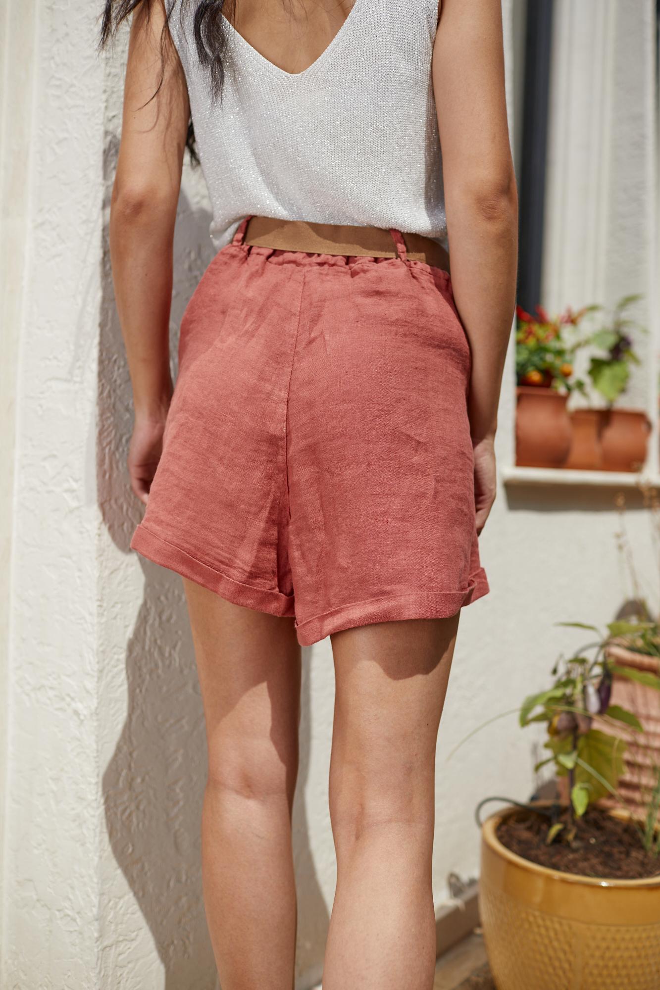 Панталонки от лен BRICK