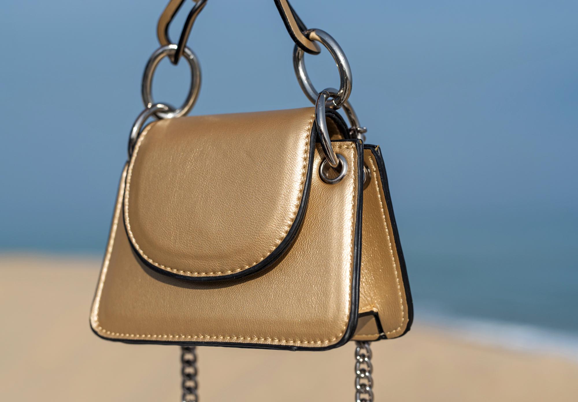 Мини чанта Gold