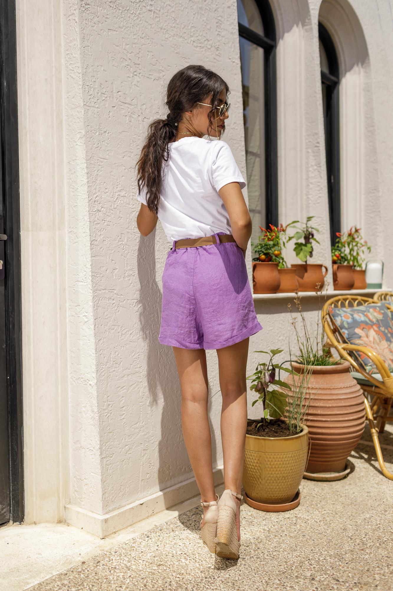 Панталонки от лен LAVENDER