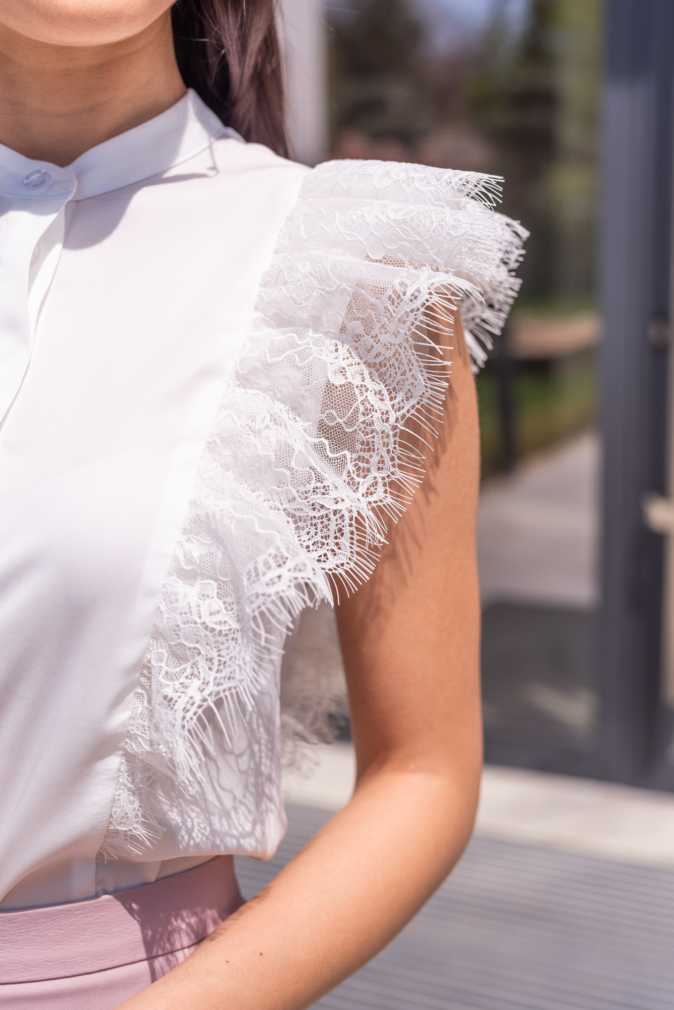 Блуза White Lace Curls