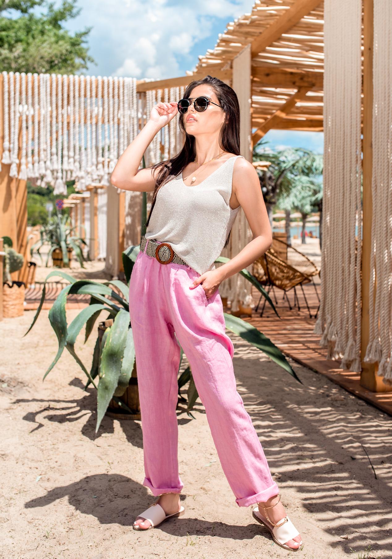 Панталон Pink linen