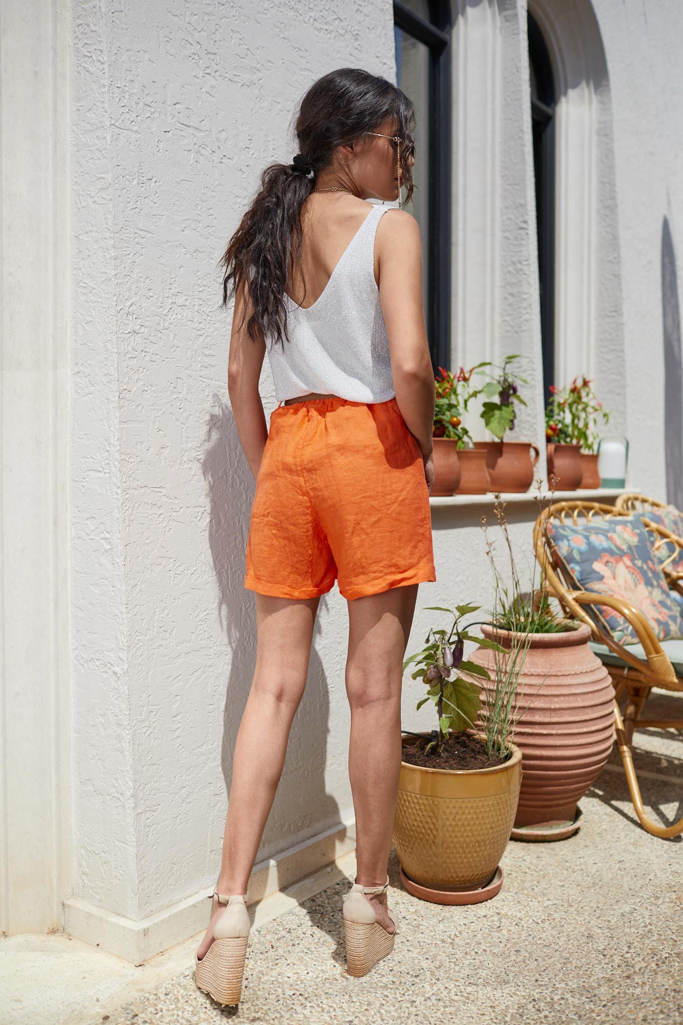 Панталонки от лен ORANGE