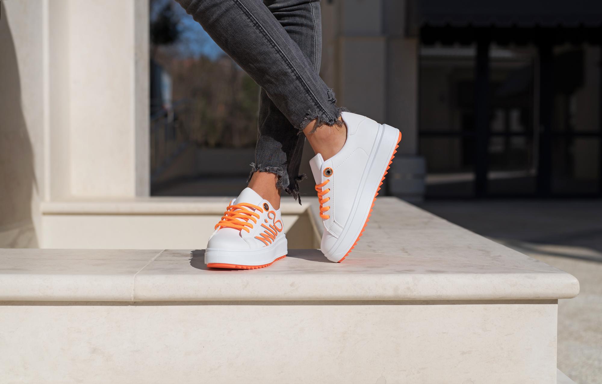Сникърси SILM - Orange Neon
